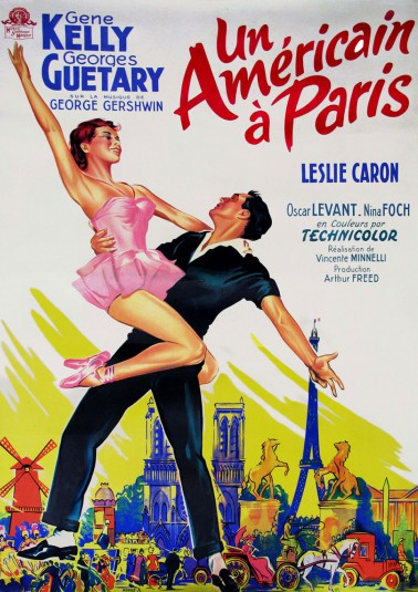 Leslie Caron 3 scan American in Paris poster