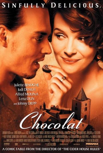 Leslie Caron 7 scan Chocolat poster