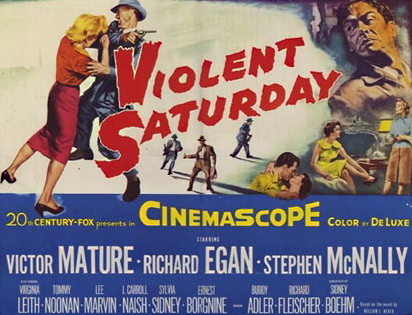 Richard Fleischer poster Violent Saturday