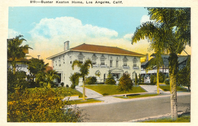 Residence of Buster Keaton (1895-1966. Postcard: M. Kashower Co., Los Angeles (from the archive of Leo Verswijver)
