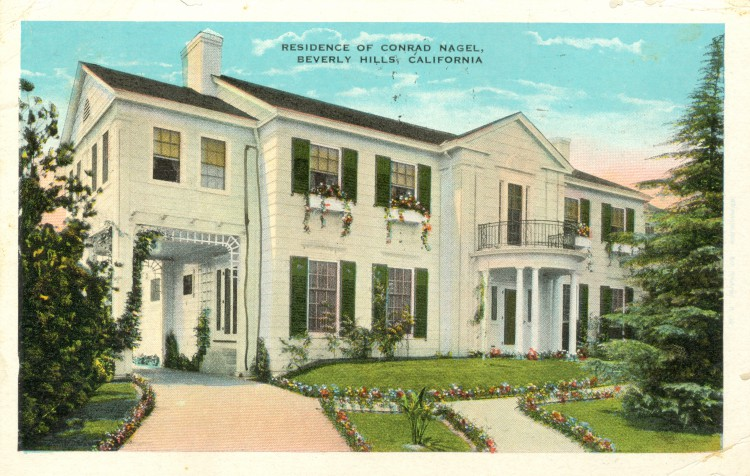 Residence of Conrad Nagel (1897-1970). Postcard: B.C. Kropp Co., Milwaukee (from the archive from Leo Verswijver)