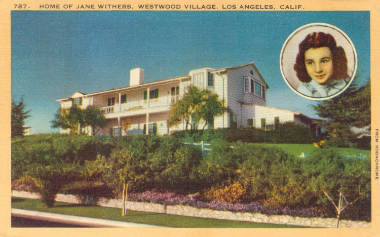 Residence of Jane Withers (1926). Postcard Longshaw Card Co., Los Angeles (from the archive of Leo Verswijver)