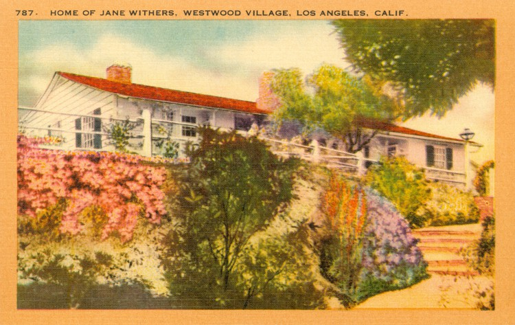 Residence of Jane Withers (1926). Postcard: Robert Kashower, Los Angeles (from the archive of Leo Verswijver)