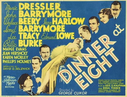 """""""Dinner at Eight"""" (1933), directed by George Cukor"""