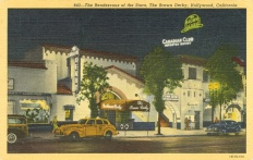 The Brown Derby. Postcard: Western Publishing and Novelty Co., Los Angeles (from the archive of Leo Verswijver)