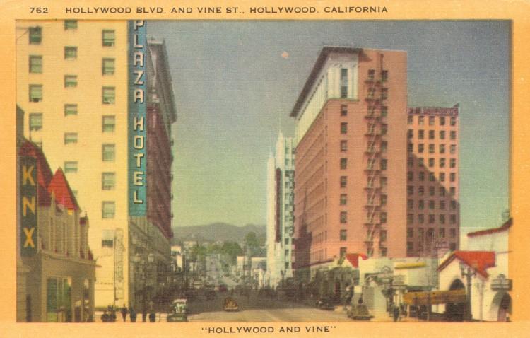 Hollywood Boulevard and Vine Street