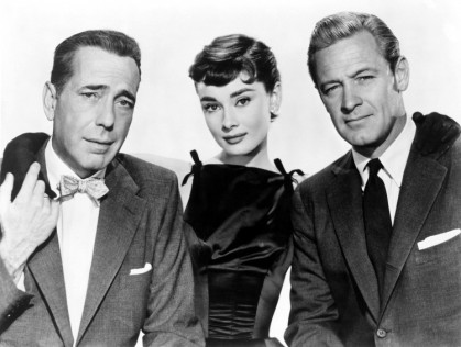 "Humphrey Bogart, Audrey Hepburn and William Holden, publicity still ""Sabrina"" (1954). Photograph: Marvin Paige Motion Picture and Television Archive"