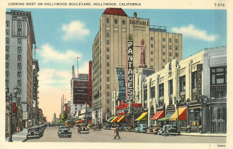 Looking West on Hollywood Boulevard