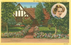 Residence of Bette Davis (1908-1989). Postcard: Western Publishing and Novelty Co., Los Angeles (from the archive of Leo Verswijver)