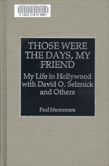 Those Were The Days, My Friend (Paul Macnamara, 1993)