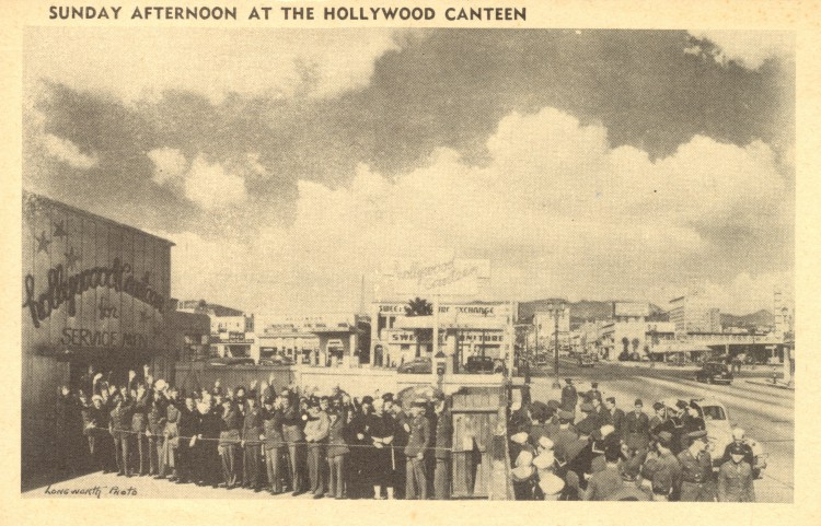 USA - CA - HOLLYWOOD - Sunday afternoon at the Hollywood Canteen - unused (3 groot)