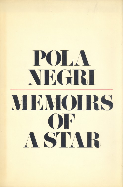 Negri, Pola - Memoirs of a Star