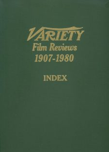 Variety Film Reviews Vol 16 1907-1980 Index