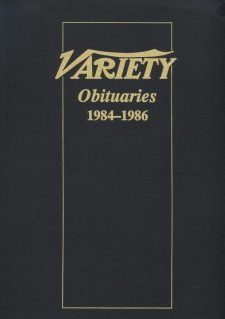 Variety Obituaries Vol 10 1984-1986
