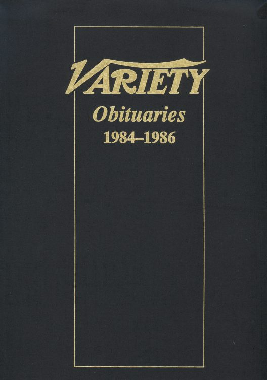 Variety Obituaries Vol 10 1984-1986
