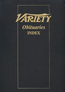 Variety Obituaries Vol 11 Index 1905-1986