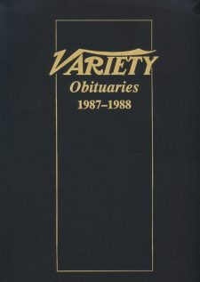 Variety Obituaries Vol 12 1987-1988
