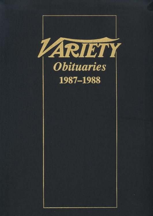 Variety Obituaries Vol 12 1987-1988
