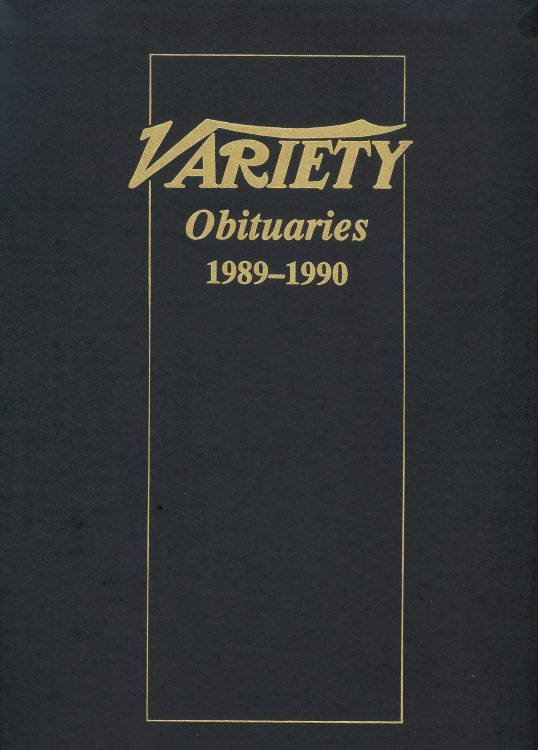Variety Obituaries Vol 13 1989-1990