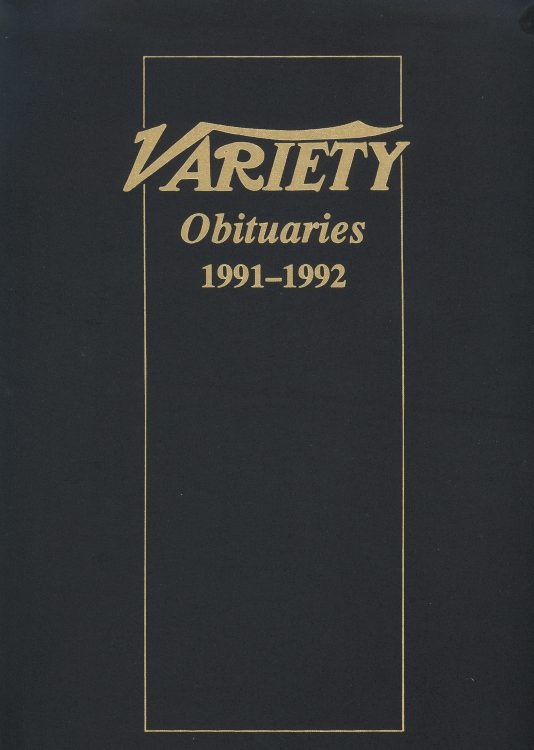 Variety Obituaries Vol 14 1991-1992