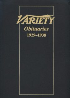 Variety Obituaries Vol 2 1929-1938