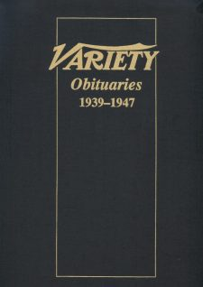 Variety Obituaries Vol 3 1939-1947