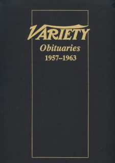 Variety Obituaries Vol 5 1957-1963