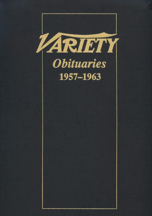 Variety Obituaries Vol 5 1957-1963