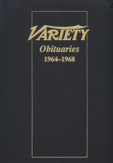Variety Obituaries Vol 6 1964-1968