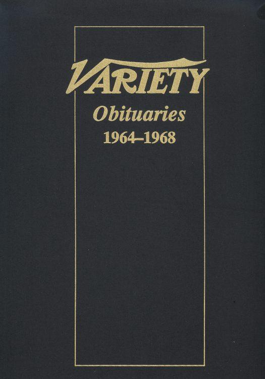 Variety Obituaries Vol 6 1964-1968