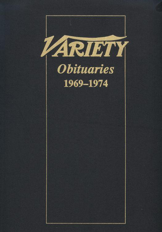 Variety Obituaries Vol 7 1969-1974