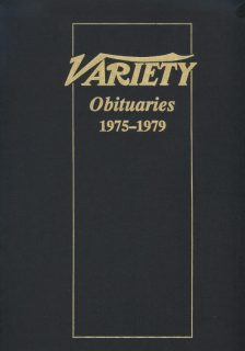 Variety Obituaries Vol 8 1975-1979