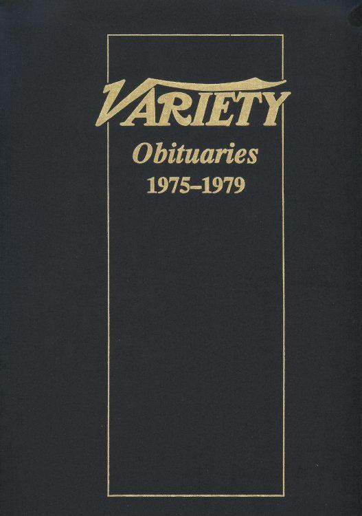 Variety Obituaries Vol 8 1975-1979