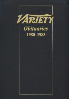 Variety Obituaries Vol 9 1980-1983