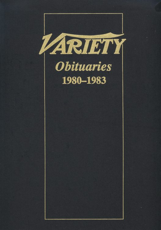 Variety Obituaries Vol 9 1980-1983
