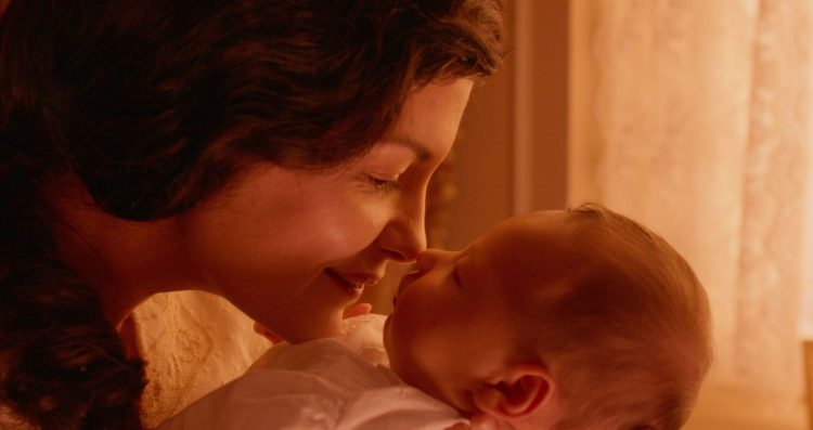 Audrey Tautou and child